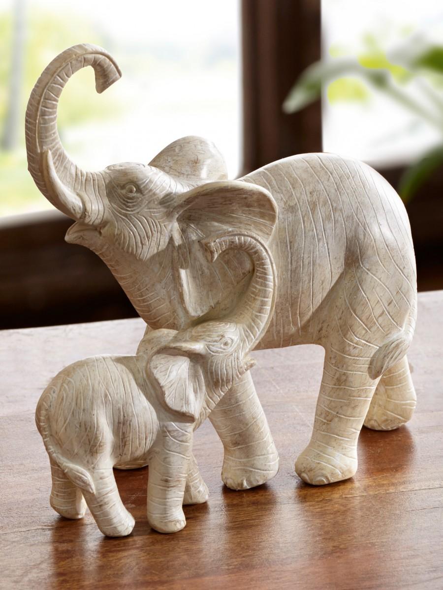 elefanten duo wohnaccessoires deko jungborn. Black Bedroom Furniture Sets. Home Design Ideas