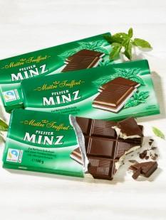 """Zartbitter-Minz-Schokolade """"3 für 2"""""""