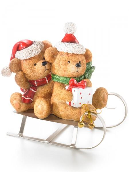 Weihnachts-Teddyschlitten