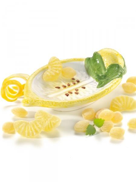 Süßes Zitronenschälchen