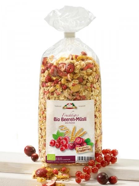 Bio Beeren-Müsli ohne Rosinen