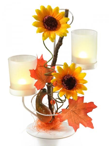 "Teelichthalter ""Sonnenblume"""