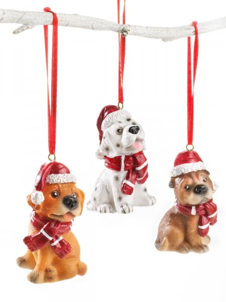Hunde-Weihnachtstrio