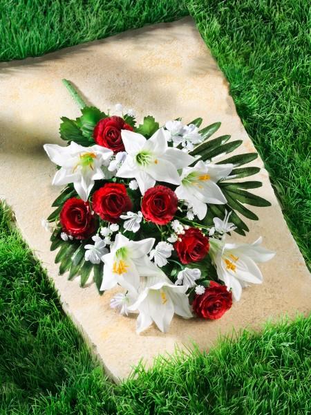 """Grabaufleger """"Rosen und Lilien"""""""