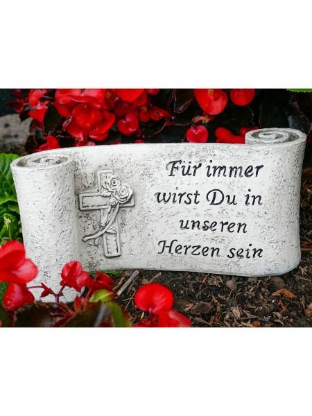 """Spruchband """"Für immer …"""""""