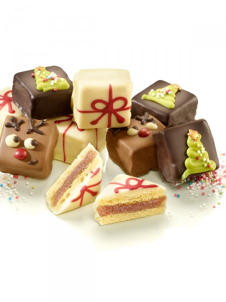 Weihnachts-Petit Fours