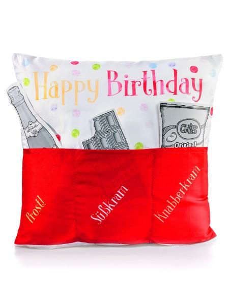 "Kissen ""Happy Birthday"""