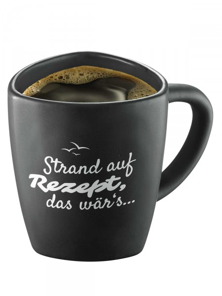 """Moin! Kaffeebecher """"Strand"""""""