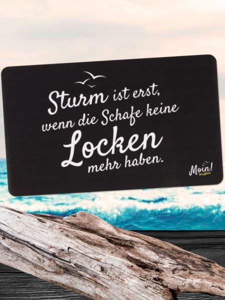 "Moin! Frühstücksbrett ""Sturm"""