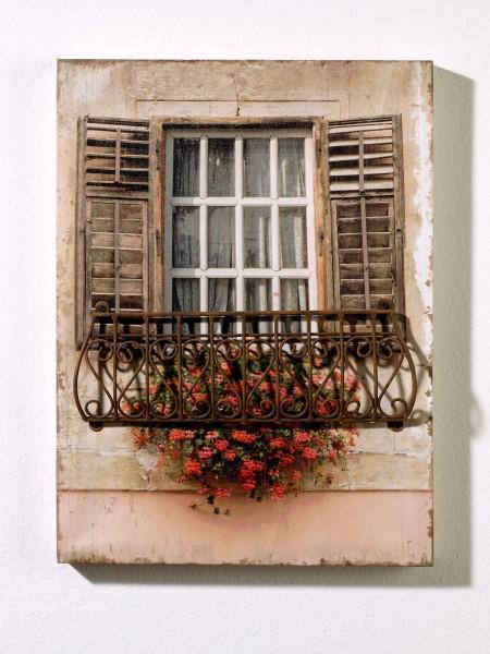 """Wandbild """"Blumenfenster"""""""