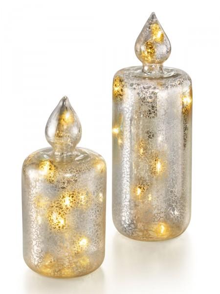 LED-Glaskerzen-Duo