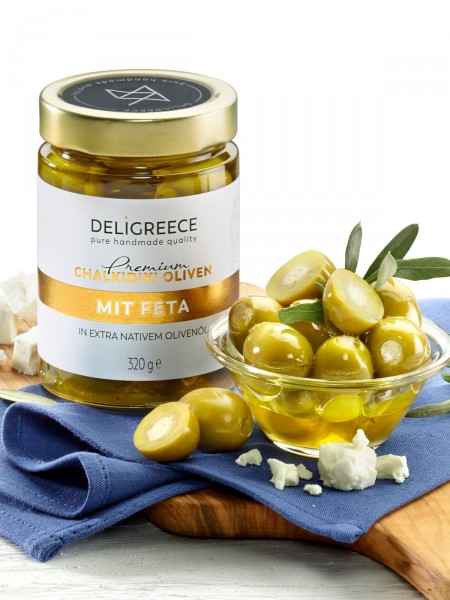 Chalkidiki Oliven mit Feta