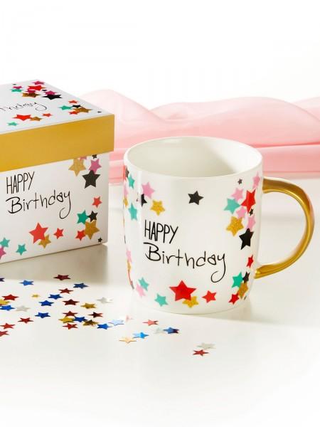 "Becher "" Happy Birthday"""