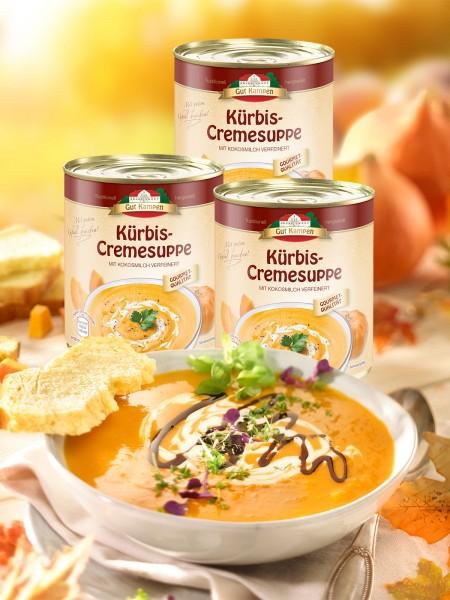 """Kürbis-Cremesuppe """"3 für 2"""""""