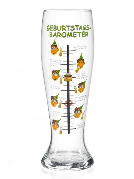 """Bierglas """"Geburtstagsbarometer"""""""