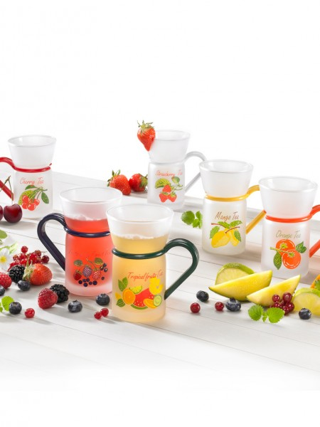 Früchteteegläser