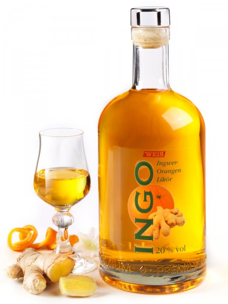 "Ingwer-Orangen Likör ""Ingo"""