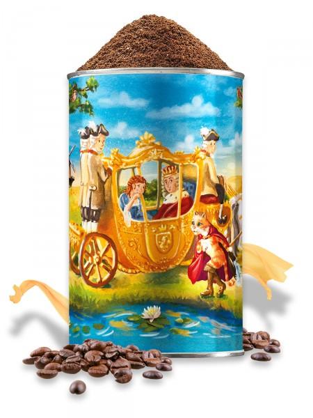 Entkoffeinierter Kaffee, gem. in Künstlerdose